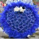Royal Couple Bear Bouquet (Dark Blue)