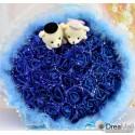 Small Royal Bear Couple Bouquet