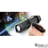Cree LED Power Torch – Adjustable Focus Zoom + Up to 200m Illumination Distance
