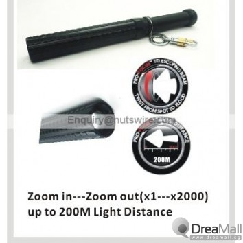 Self Defense Heavy Duty Zoom LED Torch Light